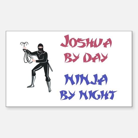 Joshua - Ninja by Night Rectangle Decal