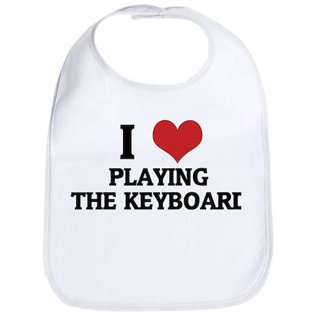I Love Playing the Keyboard Bib
