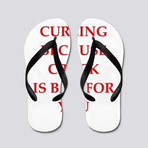 Curling joke gifts and t-shirts. Flip Flops