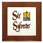 Sir Sylvester Framed Tile