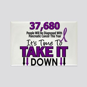 Take Down Pancreatic Cancer 4 Rectangle Magnet