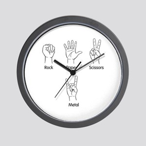 Rock, Paper, Scissors, METAL! Wall Clock