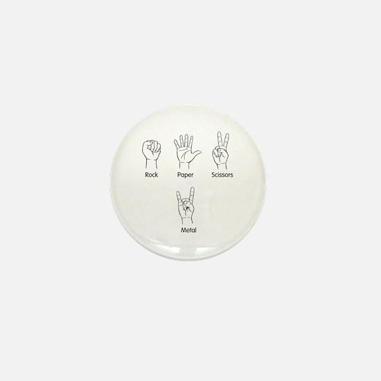 Rock, Paper, Scissors, METAL! Mini Button