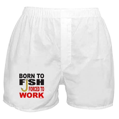 BORN TO FISH Boxer Shorts