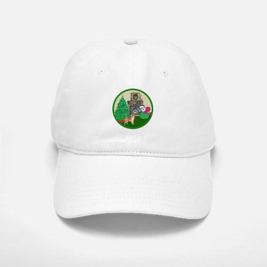 Santa & A Beagle Baseball Baseball Cap