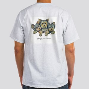 Yorkshire Terrier Puppies Ash Grey T-Shirt