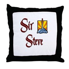 Sir Steve Throw Pillow