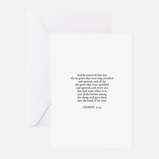 GENESIS  30:35 Greeting Cards (Pk of 10)
