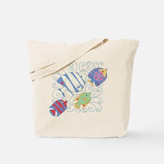 Fish School Tote Bag