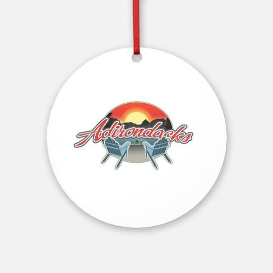 Threedown Adirondack Ornament (Round)