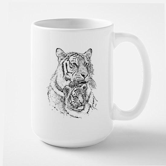 Tiger And Cub Large Mug