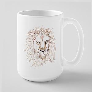 Lion Sketch Large Mug