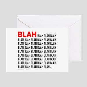 BLAH BLAH BLAH Greeting Card