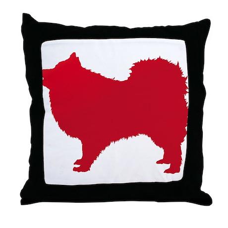 Japanese Spitz Throw Pillow