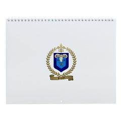 PAQUET Family Crest Wall Calendar