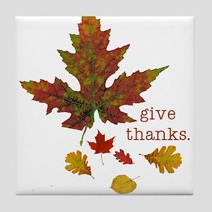 Pretty Thanksgiving Tile Coaster