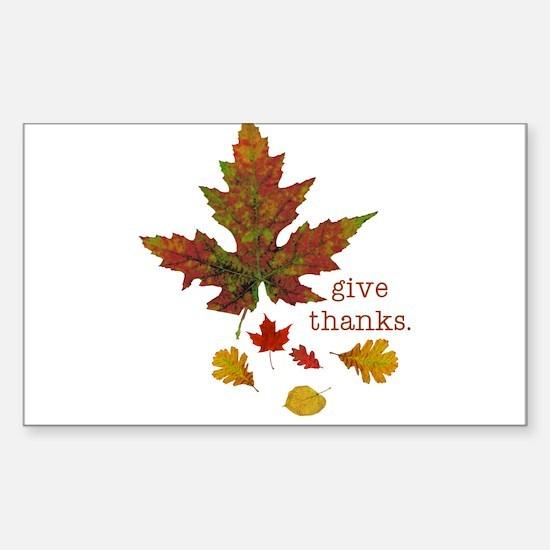 Pretty Thanksgiving Rectangle Sticker 10 pk)