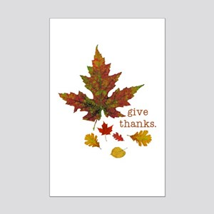 Pretty Thanksgiving Mini Poster Print