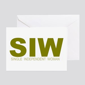 """""""Single Independent Woman"""" Greeting Cards (Package"""