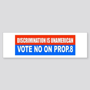 No on Prop. 8 #2 Bumper Sticker