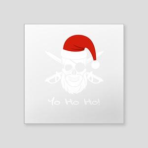 Pirate Santa Funny Skull Christmas Holiday Sticker