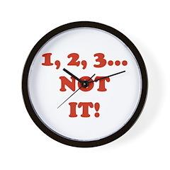 1,2,3 NOT IT! Wall Clock