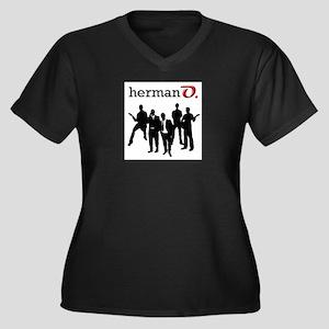 Herman O Women's Plus Size V-Neck Dark T-Shirt
