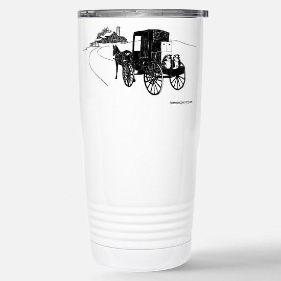 logo sketch Stainless Steel Travel Mug