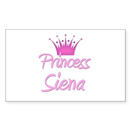 Princess Siena Rectangle Sticker