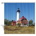 Au Sable Point Lighthouse Shower Curtain