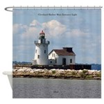 Cleveland Harbor Main Entrance Shower Curtain