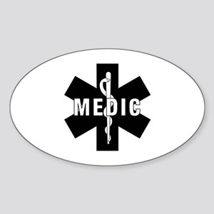 Medic EMS Star Of Life Sticker (Oval)