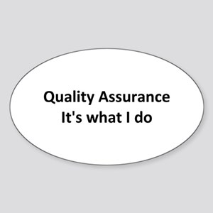 QA Oval Sticker (10 pk)