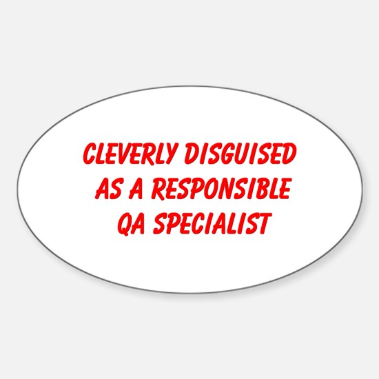 QA Specialist Oval Sticker (10 pk)