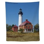 Au Sable Point Lighthouse Wall Tapestry