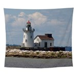 Cleveland Harbor Main Entrance Light Wall Tapestry