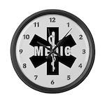 Medic EMS Star Of Life Large Wall Clock