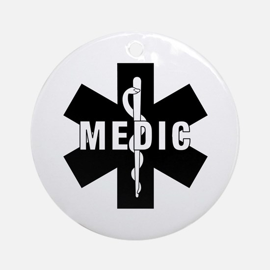 Medic EMS Star Of Life Ornament (Round)