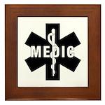 Medic EMS Star Of Life Framed Tile