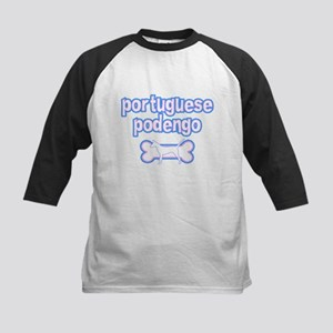 Powderpuff Portuguese Podengo Kids Baseball Jersey