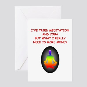 meditation money joke Greeting Card