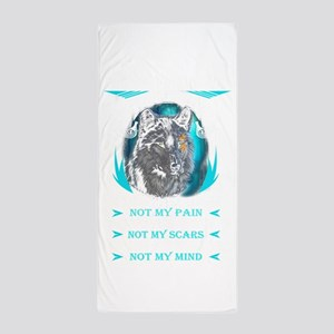 You know my name not my story Valhalla Beach Towel