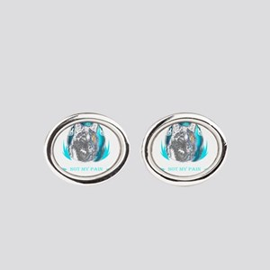 You know my name not my story Valha Oval Cufflinks