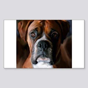 Adoring Boxer Dog Sticker (Rectangle)