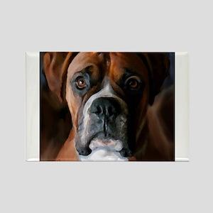 Adoring Boxer Dog Rectangle Magnet