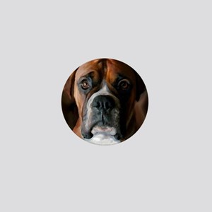 Adoring Boxer Dog Mini Button