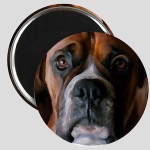 Adoring Boxer Dog Magnet