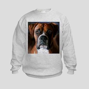Adoring Boxer Dog Kids Sweatshirt
