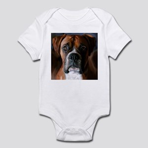 Adoring Boxer Dog Infant Bodysuit