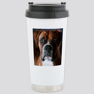 Adoring Boxer Dog Stainless Steel Travel Mug